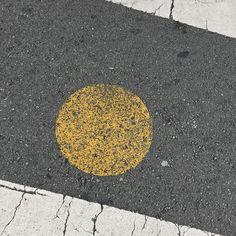 <For best experience see my feed. #Sf #sidewalk #yellow #yellowdot #intersection #crosswalk #gutter #cement #concrete  #urban #urbanart #urbanarcheology #artaccidently #pavement #hardscape #streetart #modern #modernist #accidentalart #abstractart #abstract #art #lookdown #unintentionalart #unexpectedart  #minimalist #minimal #asphaltography #roadart #streetmarkings