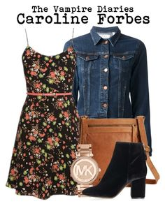 """The Vampire Diaries- Caroline Forbes"" by darcy-watson ❤ liked on Polyvore featuring M.i.h Jeans, Lucky Brand, Michael Kors and Topshop"