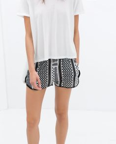 ZARA - NEW THIS WEEK - PRINTED SHORTS