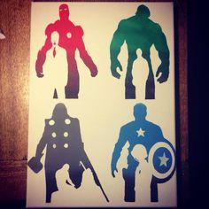 The Avengers painting  Iron Man Hulk Thor Captain by ChiffyJuice, £29.99