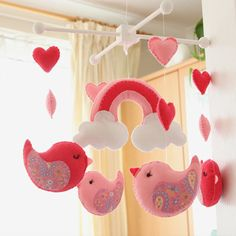 Adorable birdie nursery mobile