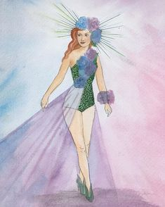 I've missed drawing so much so I'm starting with a Hydrangea Showgirl, I think I'll do a few more flower inspired vintage showgirls as the… Showgirls, Hydrangea, My Drawings, Princess Zelda, Inspired, Flowers, Fictional Characters, Inspiration, Vintage