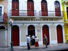 """""""Sinagoga Kahal Zur Israel"""". Rua do Bom Jesus, Bairro do """"Recife Antigo"""". #Recife. Estado de Pernambuco, Brasil."""