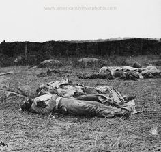 Confederate Dead after the fateful attack of Pickets charge at Gettysburg