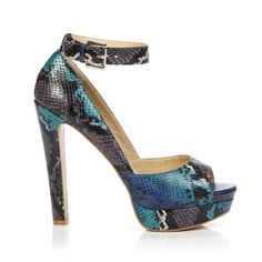 Snake print platform - my name is all over these!! ;))