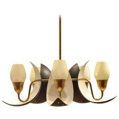 Danish Fog & Mørup Mid-Century Bicoloured Glass & Perforated Metal Pendant Lamp 1