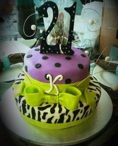 Gluten Free 21st Birthday Cake