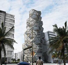 German studio Tammo Prinz has designed a residential tower made from modular cubes and dodecahedrons as part of a competition entry for the redevelopment of a site in Lima, Peru. Futuristic Architecture, Beautiful Architecture, Art And Architecture, Architecture Details, Commercial Architecture, Amazing Buildings, Modern Buildings, Modern Skyscrapers, Great Buildings And Structures