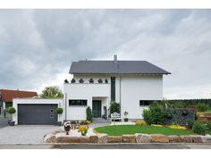Fertighaus modern pultdach  Blume - #Einfamilienhaus von Fertighaus Weiss GmbH | HausXXL ...