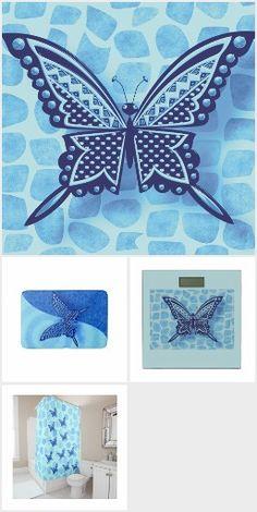 BLUE MONO BUTTERFLY 116