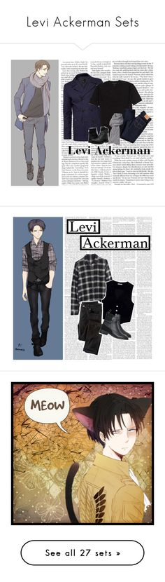 """""""Levi Ackerman Sets"""" by vampirekitty34 ❤ liked on Polyvore featuring Levi's, Ted Baker, UGG, Timberland, modern, anime, levi, attackontitan, aot and leviackermen"""