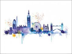 london skyline drawing - Buscar con Google