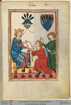 Codex Manesse - rushes/ cattails