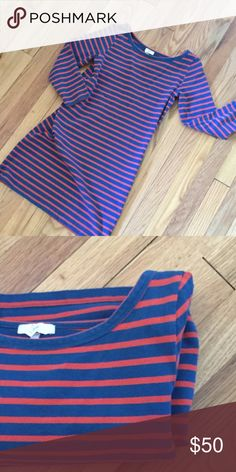 "Striped Long Sleeve Dress Brand tagged ""Joie"". Originally purchased from Saks for just under $200. just not my style! Excellent condition & fits beautifully. Taking offers! J. Crew Dresses Mini"