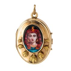 Victorian Egyptian Revival Locket | See more rare vintage Necklace Enhancers at https://www.1stdibs.com/jewelry/necklaces/necklace-enhancers
