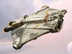 Close up on Ghost Ship from Star Wars Rebels I can't wait for the toy ship!