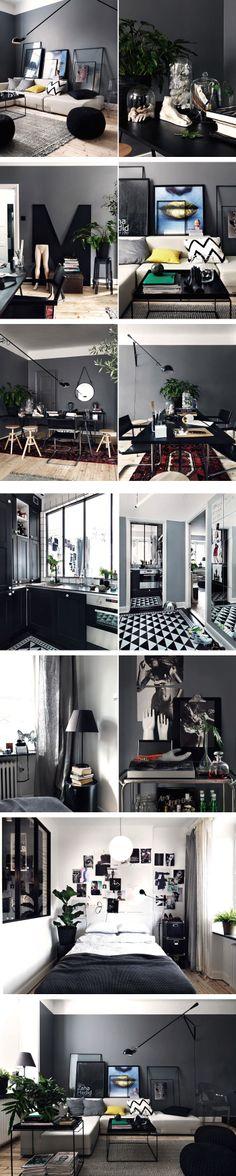 Grey masculine apartment