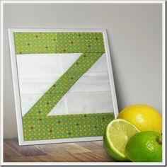 Letter Z with Presnall zen Chic, modern quilts by Brigitte Heitland Quilting Tutorials, Quilting Projects, Sewing Tutorials, Video Tutorials, Alphabet Quilt, Alphabet Blocks, How To Make Letters, Word Block, Book Quilt