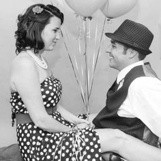 #engagement #photos #vintage #pin -up