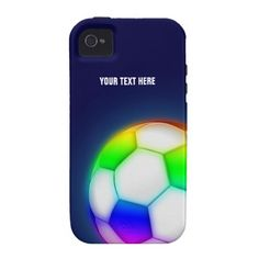 Personalized Psychedelic Soccer Ball (Football) iPhone 4 Cases