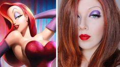Transforming Into: Jessica Rabbit Makeup & Hair Tutorial