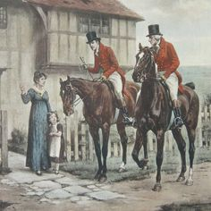 After GEORGE GOODWIN KILBURNE Pair Colored Prints, Coaching Incidents
