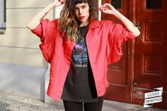 THRILLER STYLE 80's VIVID RED JACKET via LUSSO SPORTIVO Vintage Store. Click on the image to see more!