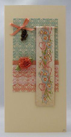 Handmade Card - Floral Banner £3.00