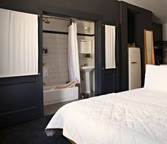 Opt for sliding doors for closets and bathrooms.