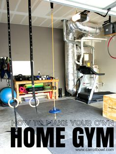 How to make a Home Gym | Create your own home gym with items you'll use! Workout at home in your garage gym. Carrot Bowl will show you how | TodaysCreativeLife.com