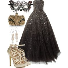 """Masquerade Ball"" by aerochic on Polyvore. I really want to go to a masquerade party :)"