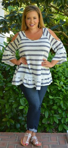 Perfectly Priscilla Boutique - It's Just Good Genes Top, $38.00 (http://www.perfectlypriscilla.com/its-just-good-genes-top/)