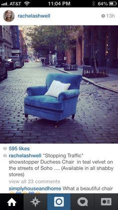 ❥ Rachel Ashwell Shabby Chic velvet chair