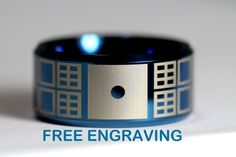 FREE CUSTOM LASER ENGRAVING, 30 letter maximum. This listing is for a stunning top quality Tungsten Carbide Band 12mm High Polish Beveled DOCTOR