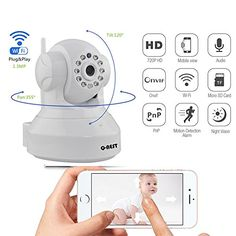 Wireless WiFi Security Camera System 1.3MP 960P HD Pan Tilt IP Network Surveillance,Day Night Vision,Baby Monitor,Two-Way Audio,SD Card Slot(64GB),Motion Detection Alerts,Android/iOS/Mac/PC