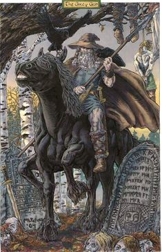 Woden...leader of the Anglo-Saxon gods, equivalent to the Norse deity Odin