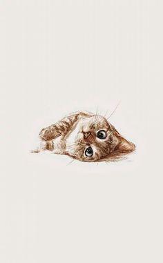 in der Kunst - ::: Cats / Katzen ::: - - Katzen / Cat - Cat Wallpaper Art And Illustration, Cat Illustrations, Crazy Cat Lady, Crazy Cats, Cat Art, Stuffed Animals, Cats And Kittens, Kitty Cats, Cute Cats