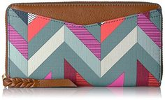 Fossil Caroline Rfid Zip Around Wallet Chevron Blue Wallet for sale Playing Card Case, Luxury Card, Wallet Pattern, Wallets For Women Leather, Blue Chevron, Vintage Cards, Fossil, Leather Wallet, Zip Around Wallet