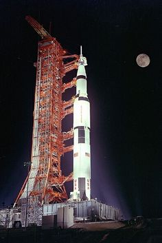 Apollo 17 Saturn V moon rocket - the only night launch of the mighty Saturn V.