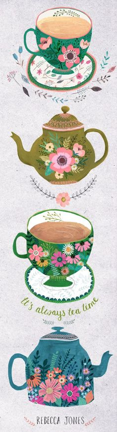 It's always time for tea in my house. I blame it on being English, I drink a LOTof tea. And I love nothing more thanbuying newtea cups and teapots. I've been really busy these last few months, l...