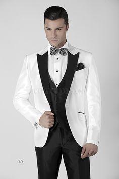 Wedding Suits in White Silk Blend Shantung