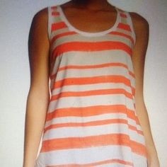 I just discovered this while shopping on Poshmark: LAST CHANCE DKNY striped tank NWT. Check it out! Price: $21 Size: L