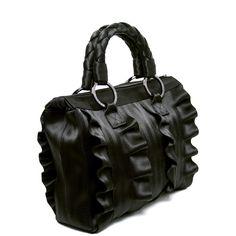 Harveys Seatbelt Bag Lola Satchel Black Ruffle