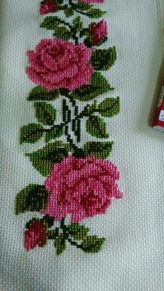 Cross Stitch Rose, Cross Stitch Flowers, Cross Stitch Designs, Smocking, Diy And Crafts, Embroidery, Crochet, Floral, Stitching
