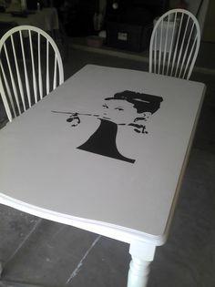 Audrey Hepburn dinning table