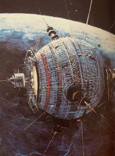 rhubarbes:  conceptual art by Peter Ellenshaw & Robert McCall for The Black Hole (1979). From Cinefantastique magazine  viaThe vault of retro sci-fi 2.0