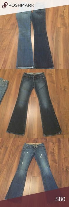 Paige Petite denim size 25 bundle EUC gorgeous high quality Paige petite a purchased at Nordstrom. One is dark traditional one is destroyed lighter wash. Ask any questions these are amazing!!!! Wish I was still skinny enough to fit them! Paige Jeans Jeans Boot Cut