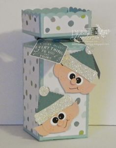 Stampin' Up! punches for Elf Punch Art. Debbie Henderson, Debbie's Designs.