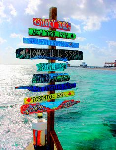 Signpost with all the places you have been and the year you traveled there...I think yes. definitely.