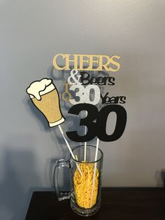 3 Piece Birthday Centerpiece Source by etsy 30th Birthday Party For Him, Birthday Decorations For Men, Happy Birthday Signs, Thirty Birthday, 30th Party, Dad Birthday, Beer Party Decorations, 30th Birthday Ideas For Men Surprise, 40th Birthday Centerpieces
